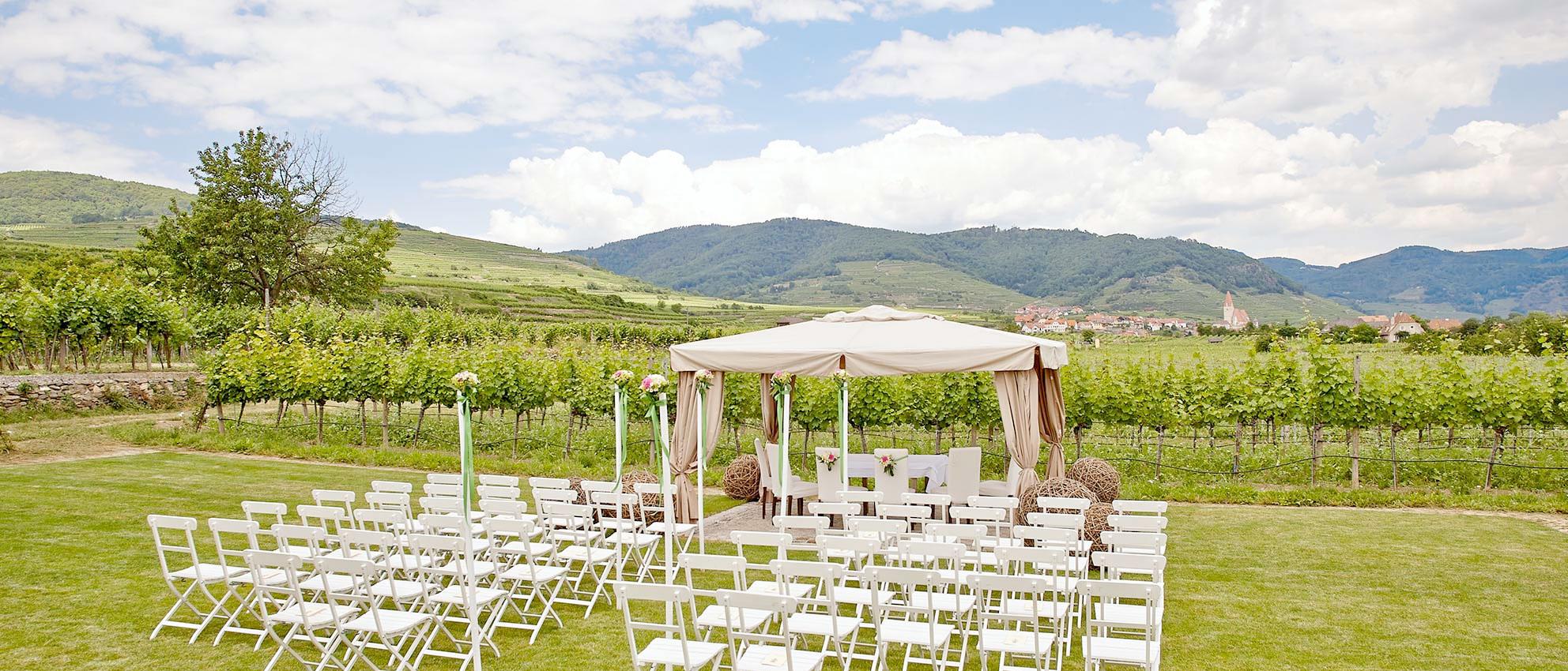 Heiraten in der Wachau am Weingut Holzapfel